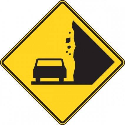 free vector Falling Rocks Sign clip art