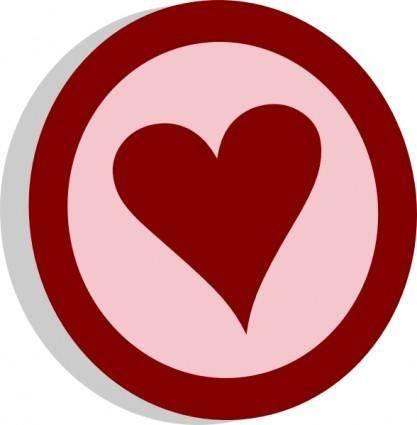 Symbol Heart Vote clip art