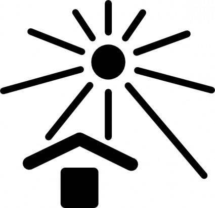 free vector Keep Out Of Sunlight Sign clip art
