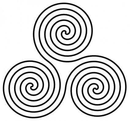 Triple Spiral Symbol clip art