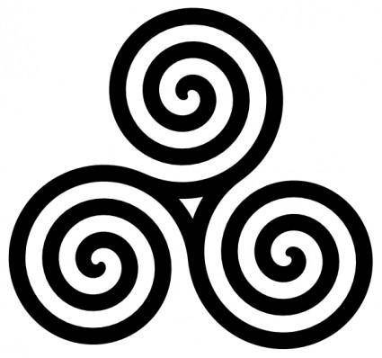 free vector Triple Spiral Symbol Filled clip art