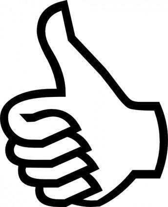 Symbol Thumbs Up clip art