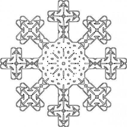 Snowflake Outline clip art