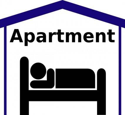 Apartment Symbol Pictogram clip art