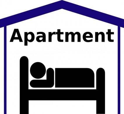 free vector Apartment Symbol Pictogram clip art