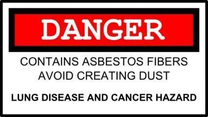 free vector Asbestos Danger clip art