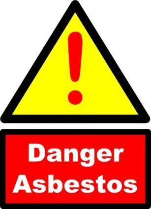 Danger Asbestos Sign clip art