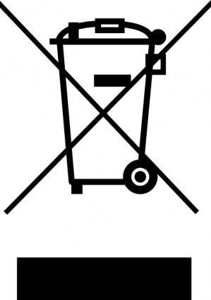 free vector Do Not Trash clip art
