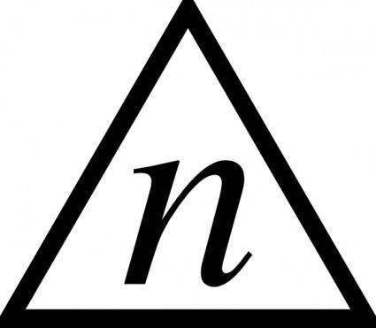 Triangle N clip art