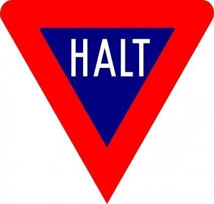 Stop Halt clip art