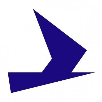 Blue Bird Symbol clip art