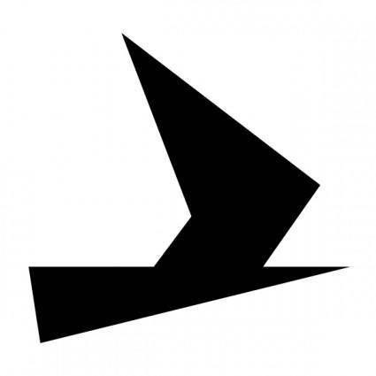 Schwertzugvogel Black clip art