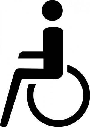 free vector Rollstuhl Aus Zusatzzeichen clip art