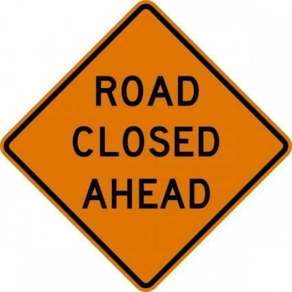 Road Closed Ahead Sign clip art