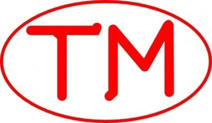 Red Oval Tm clip art