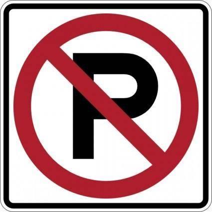 free vector No Parking Sign clip art