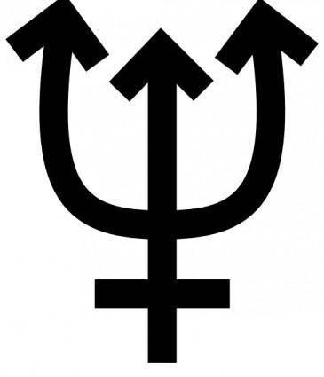 Neptune Symbol clip art