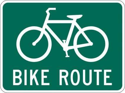 free vector Bicycle Route Sign clip art