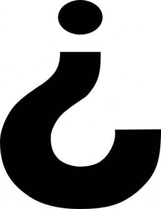 Inverted Question Mark clip art