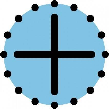 Crosshairs clip art