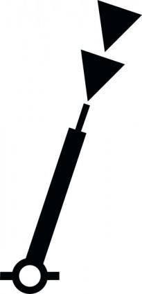 Nchart Symbol Int Cardinal Mark Spar S clip art
