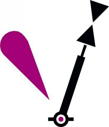 free vector Nautical Symbol International Cardinal Lighted Mark clip art