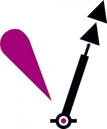 Nchart Symbol Int Cardinal Lightedmark Spar N clip art