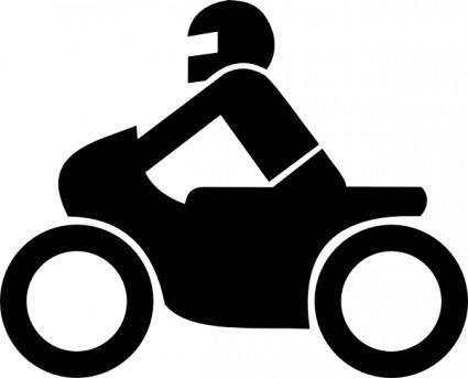 Motorrad Aus Zusatzzeichen clip art