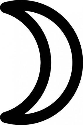 free vector Moon Symbol Crescent clip art