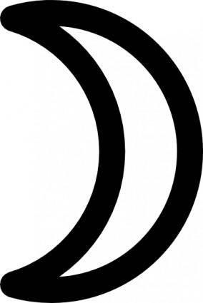 Moon Symbol Crescent clip art