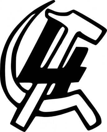 Hammer Sickle Four clip art