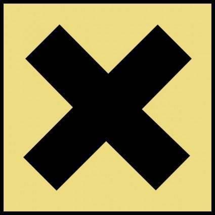 Hazard X Gold clip art