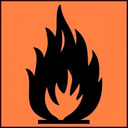 Flammable Symbol clip art