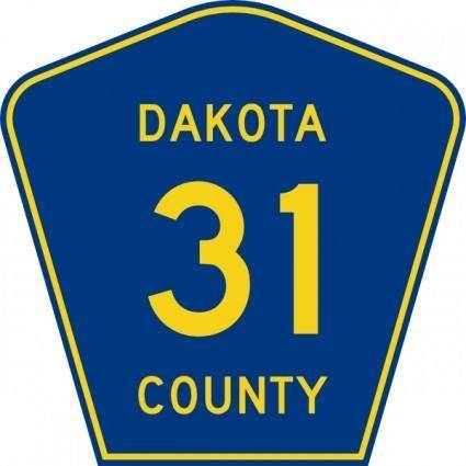 Dakota County Route clip art