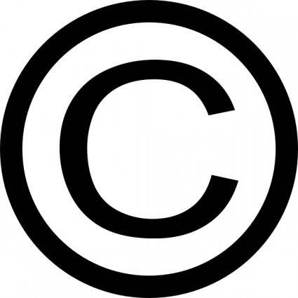 Thin Copyright Symbol clip art