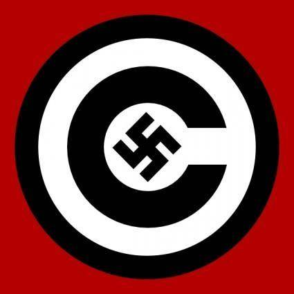 Copyright With Nazi Symbol clip art