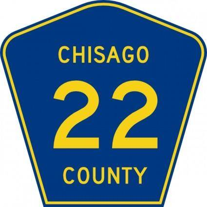 Chisago County Route clip art