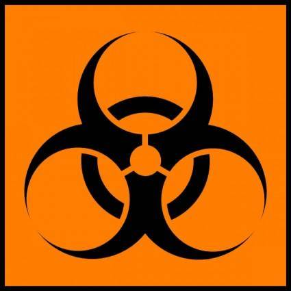 Biohazard Orange clip art