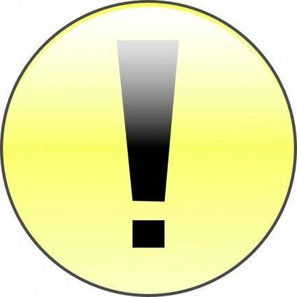 Attention Yellow clip art