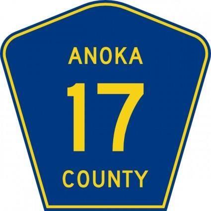 Anoka County Route clip art