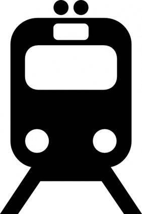 Tram Train Subway Transportation Symbol clip art