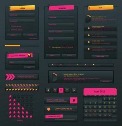 free vector Exquisite menu button vector