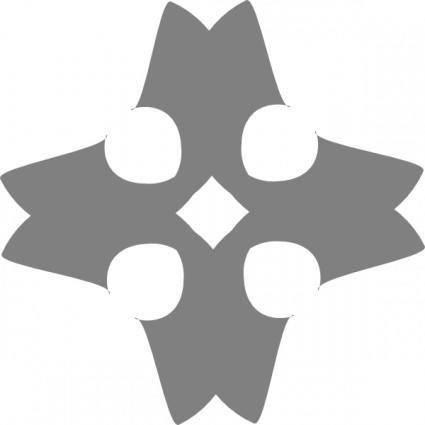 Heraldic Cross clip art