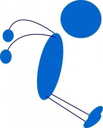 free vector Stickman Jump clip art