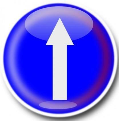 Straight Ahead Sign clip art