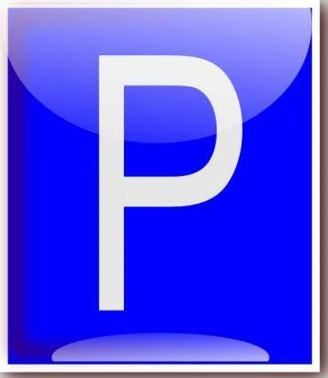 free vector Parking Sign clip art