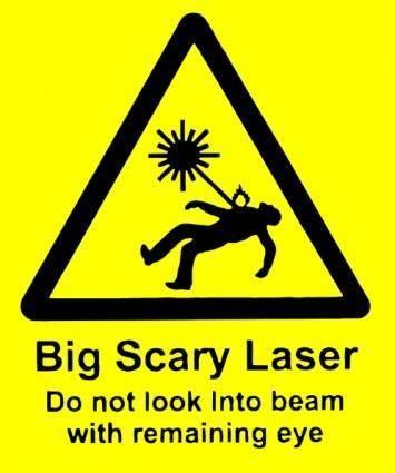 Scary Laser clip art