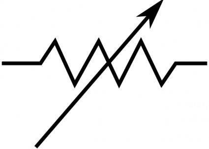 free vector Rsa Iec Variable Resistor Symbol clip art