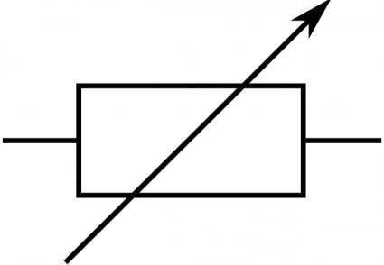 Rsa Iec Variable Resistor Symbol clip art