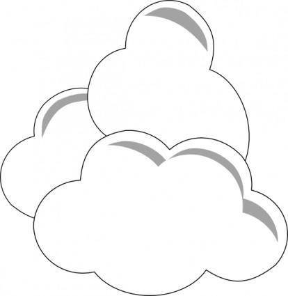 Weather Clouds clip art